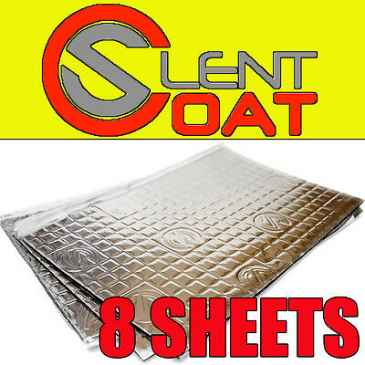 Silent Coat Car Door Boot Deadening Vibration Sound Proofing Damping Mat 8 Sheet