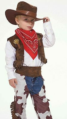 Boys Childs Toddler Cowboy Kid Rodeo Western Sheriff Costume Cow boy - Fast Ship