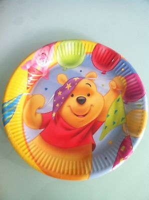 Disney Winnie The Pooh Party Plates pack of 10 party plates new!