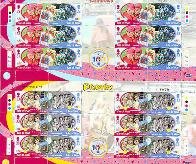 Isle of Man-Girl Guides set of 4 special sheets mnh