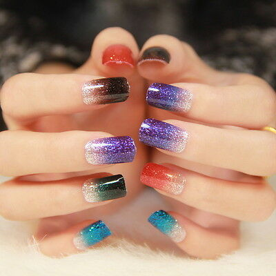 Self-Adhesive Nail Wrap Art Stickers/Nail Foil/Nail Tip Polish Strip-Glitter