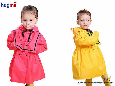 "NEW KIDS ""Hugmii"" Raincoats Princess Design 2 Colours S M L GREAT PRICE"