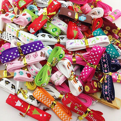 "20Y 3/8"" Mix Style Printing Grosgrain Ribbon Bows Wedding Party Deco Craft"