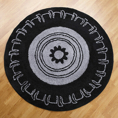 One Grace Place Teyos Tires 5x5 Round Rug 10-2003855 NEW
