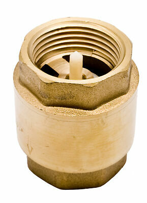 "1"" Brass In-Line Spring Check Valve - 200WOG FxF NPT Vertical"