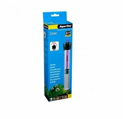 Aqua One 25 Watt Aquarium Fish Tank Glass Heater 11301 25L New • EUR 21,88