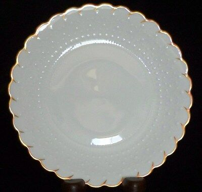 """GEORGES BOYER LIMOGES FRANCE WHITE/GOLD 6 1/2"""" BREAD DESSERT PLATE (14 AVAIL)"""