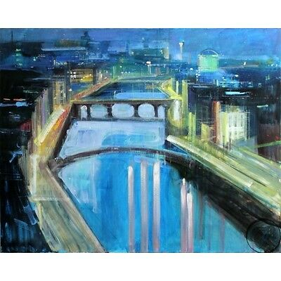 Alex Zwarenstein **dublin By Night** Giclee On Canvas
