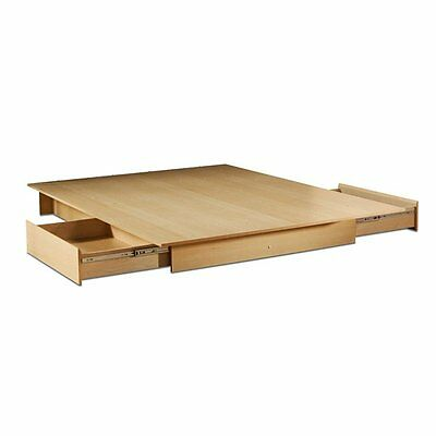 South Shore Furniture 3013217 Step One Platform Bed with Side Drawers