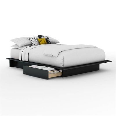 South Shore Furniture 3107217 Step One Platform Bed with Side Drawers