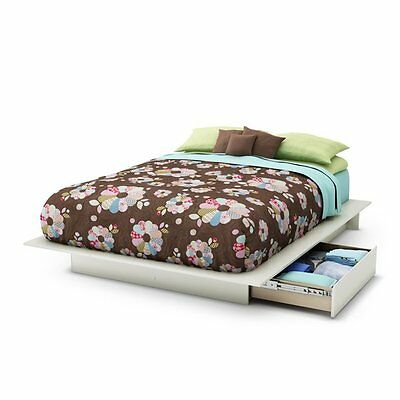 South Shore Furniture 3160217 Step One Platform Bed with Side Drawers