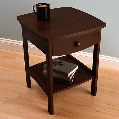 Winsome Wood 94918 20218 - Curved End Table/Night Stand