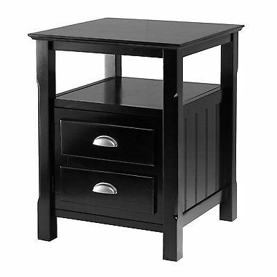 Winsome Wood 20920 Timber Nightstand, Black