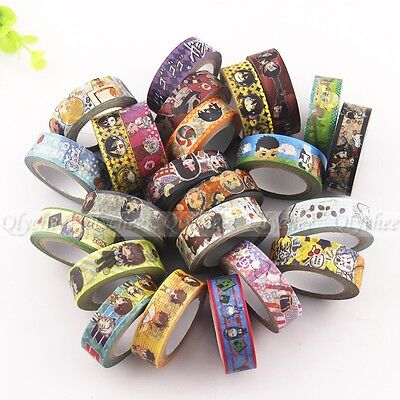 Japanese Anime Cartoon Paper Maksing Washi Tape DIY Scrapbook Stickers Wholesale