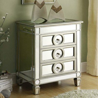 Monarch Specialties I 3701 Mirrored Accent Table