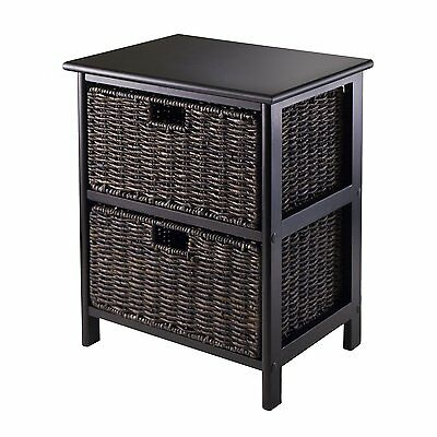 Winsome Wood 20216 Omaha Storage Rack with Two Foldable Baskets
