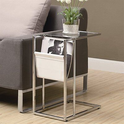 Monarch Specialties I 3034 Accent Table with Magazine Holder