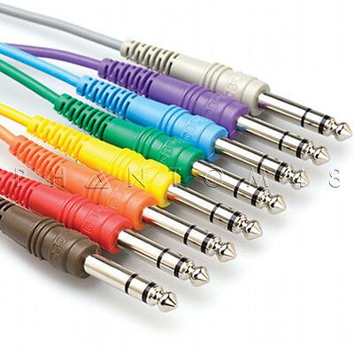 "Hosa Technology CSS-830 TRS Balanced Studio Patch Cables 8-pack of 1/4"" - 1ft."