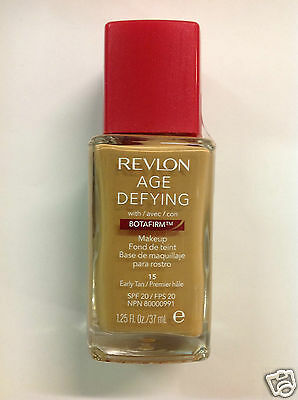 Revlon Age Defying With Botafirm Foundation SPF 20 EARLY TAN #15 NEW.