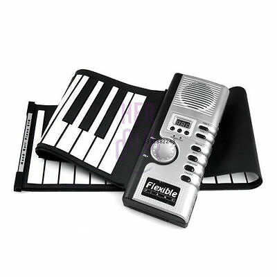 61 Keys USB Flexible Roll up Roll-up Electronic Piano Keyboard Gift for Kids