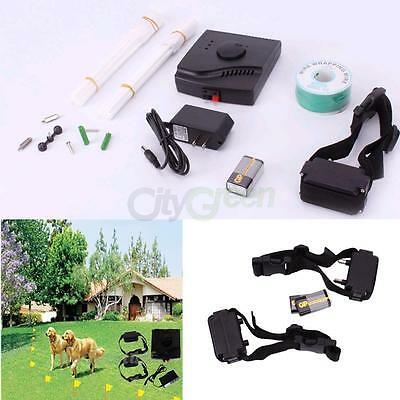 Electric Fence Waterproof Underground Shock Collar Dog for 1 or 2 Dog Dogs New