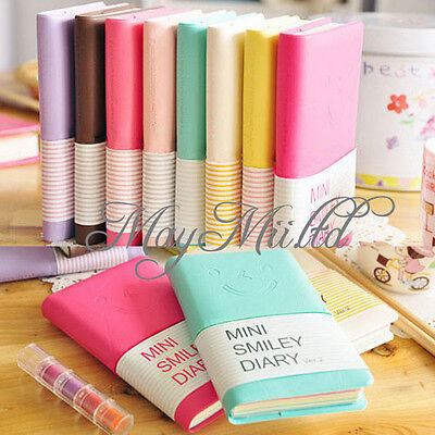 Diary Notebook Memo Cute Charming Portable Mini Smile Smiley Paper Note Book J