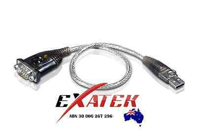 Aten USB to DB9 Serial Converter 35cm Cable UC-232,  USB to 1 Port RS232