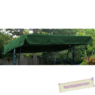 Green Water Resistant 2 Seater Replacement Canopy for Garden Hammock Swing Seat