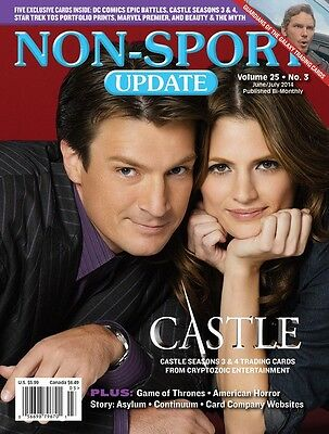 Non-Sport Update Jun/Jul '14 Castle Seasons 3 & 4 cover with 5 free promo cards