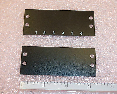 Qty (25) 6 Position Terminal Block Marker Strips Tbm-06