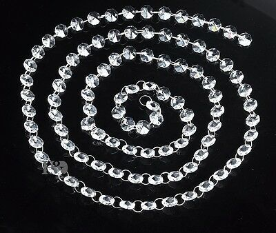 6 Ft Clear Crystal Glass Chandelier Beaded Chain Wedding Christmas Garland 14Mm