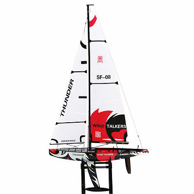 Thunder 1890mm Fiberglass Wind Power Racing 2.4ghz RC  Sailing Yacht RC boat