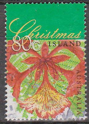 (T10-71) 1998 Christmas Island 80c flame tree (B) F/Usd