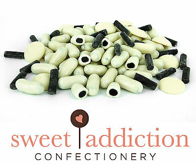 500g Premium REAL White Chocolate Covered Licorice Bullets - Bulk Candy Buffet