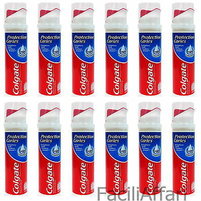 12 X Dentifricio Colgate PROTECTION CARIES DISPENSER protezione dalla carie