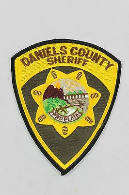 Vintage Daniels County Sheriff Proplata Montana Shoulder Patch  BB