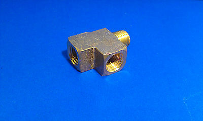 Solid Brass Street Pipe Tee 1/4 Inch Male Two 1/4 Female NPT Air Fuel Water