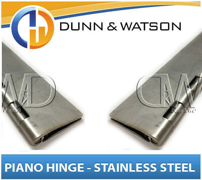 32mm Open Width Piano / Continuous Hinge - Stainless Steel (1800mm Long) Trailer