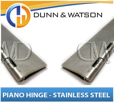 50mm Open Width Piano / Continuous Hinge - Stainless Steel (1800mm Long) Trailer