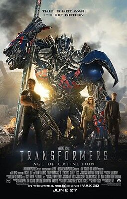 Transformers Age Of Extinction DOUBLE SIDED ORIGINAL MOVIE POSTER Regular Style