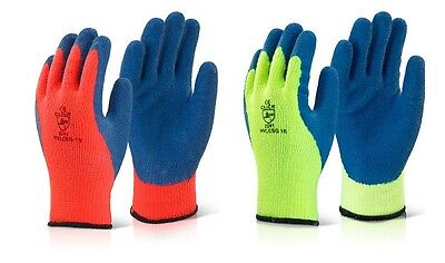 1 PAIR x Coldstar Grip Weather Ice Outdoor Freezer Thermal Fleece Lined Gloves