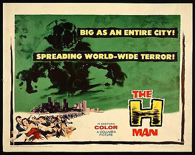 THE H-MAN / TOHO / 1959 / JAPANESE / SCIENCE FICTION / STYLE A / ORIGINAL POSTER