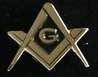Freemason Masonic Square and Compass Lapel Pin