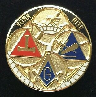 Freemason Masonic York Rite Lapel Pin