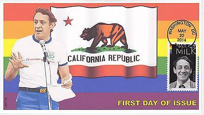 Jvc Cachets - 2014 Harvey Milk First Day Covers Fdc Topicals Gay Rights #2