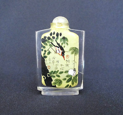 Chinese Collectible  Reverse Hand Painted glass Snuff Bottle (#91)