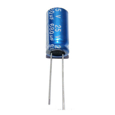 680uF 25V Radial Electrolytic Capacitors 105'C Pack of  2, 5, 10 or 20