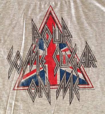 """New! Def Leppard """"Pour Some Sugar On Me""""  Licensed Juniors Dolman T-Shirt"""