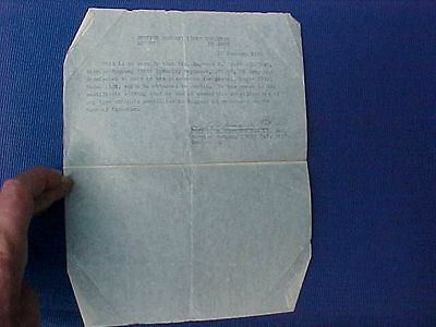 Original Wwii Us Capture Paper For German Luger - 330Th Infantry
