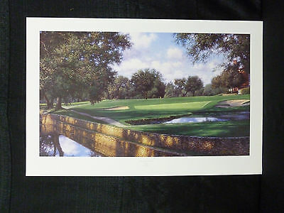 Larry Dyke Signed Sixteenth At Colonial Golf Limited Edition Lithograph